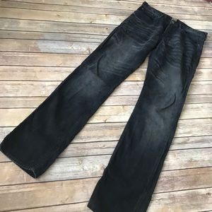 PRPS corduroy pants faded black hi rise